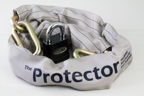 Package Deal: Protector 11mm Chain, Squire SS50P5 Open Shackle Lock
