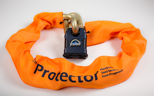 Package Deal: Protector 22mm Chain, Squire SS80CS-R1 Lock